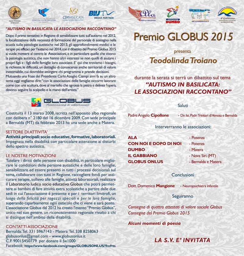 locandina-3-premio-globus-onlus-2015-bernalda-matera-basilicata